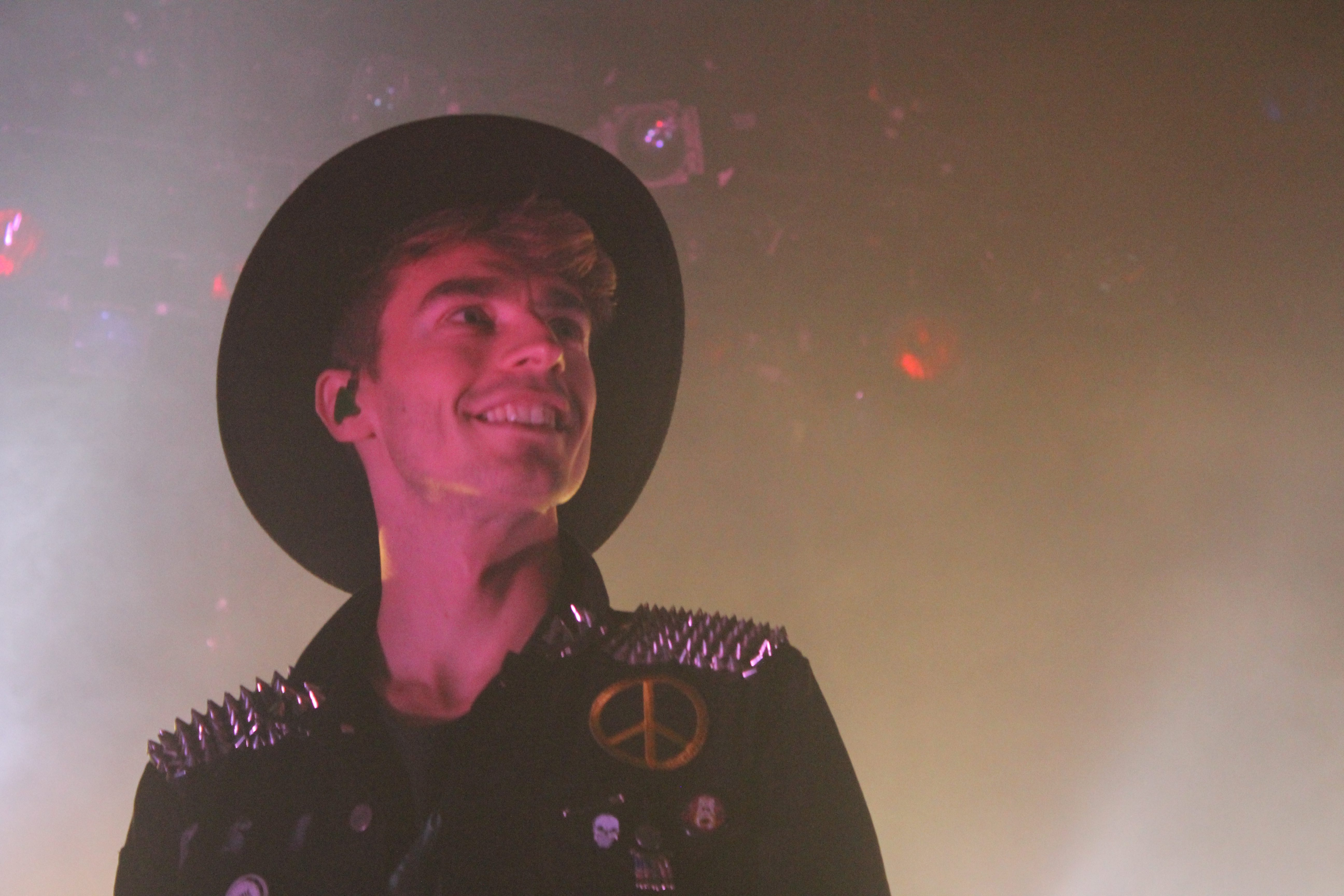 New Politics' singer David Boyd dons a glowing smile. The band's sincerity and excitement are infectious.