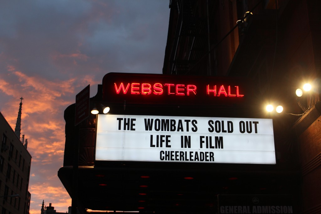 SOLD OUT! The Wombats/Life In Film/Cheerleader @ Webster Hall, NY 04/27/2015