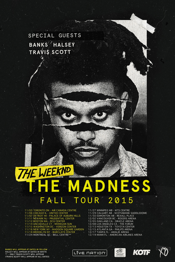 The Weeknd Madness Fall 2015 Tour