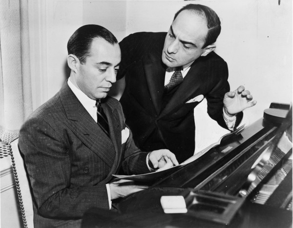 Legendary American song composers Richard Rodgers and Lorenz Hart