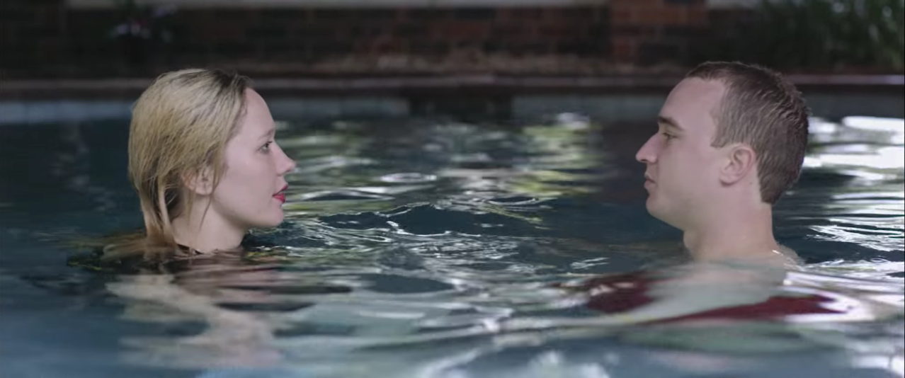 "Screenshot from Julia Jacklin's ""Pool Party"" music video"
