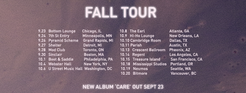 How to Dress Well Fall Tour 2016