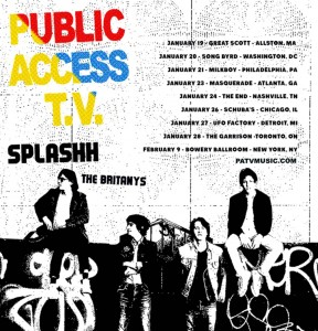 PATV Splashh The Britany's tour poster 2017