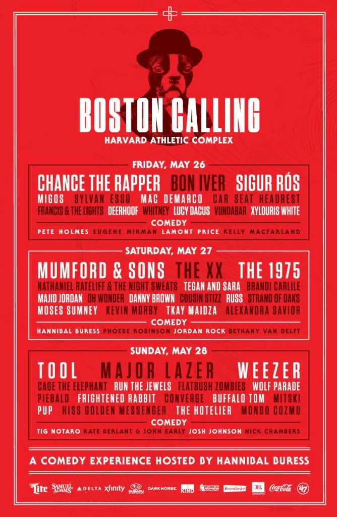 Boston Calling May 2017 Lineup