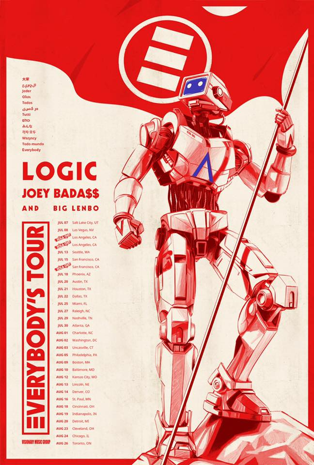 Logic Everybody's Tour 2017 poster