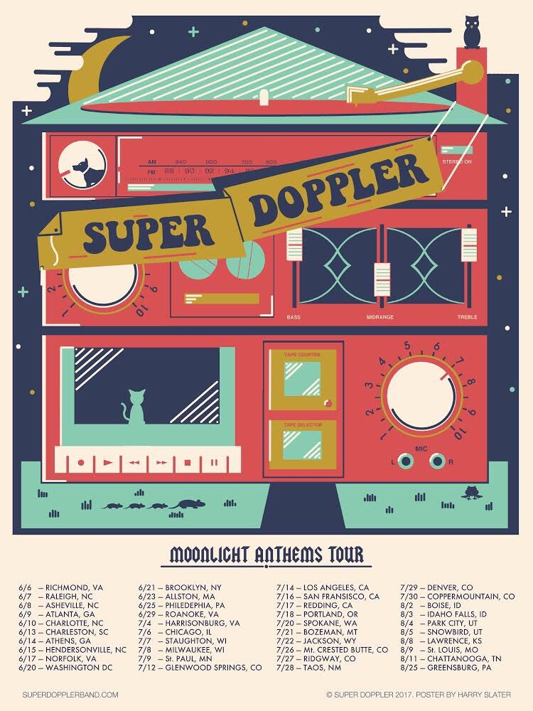 Super Doppler tour poster 2017