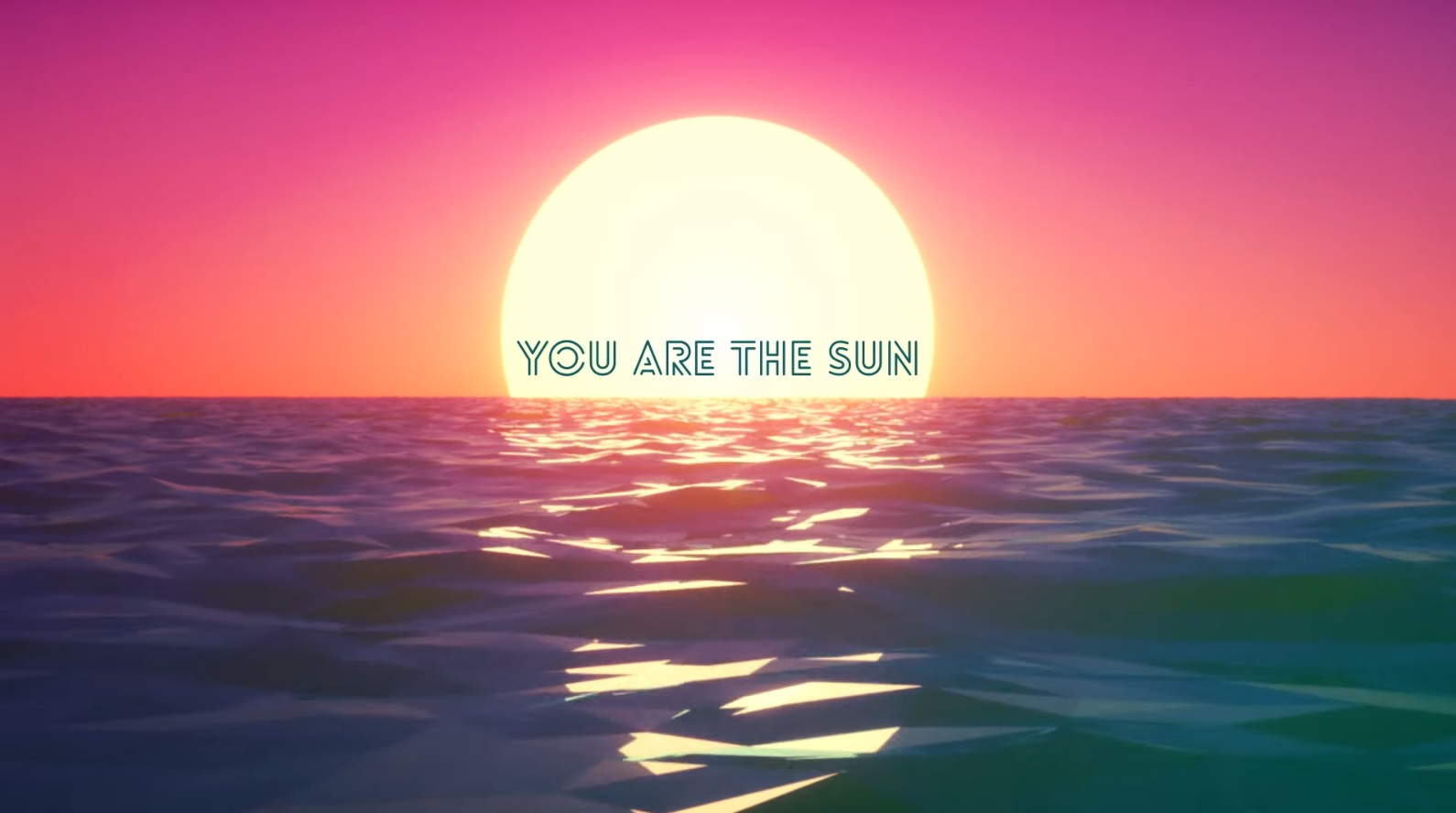 You Are the Sun - Sunset Neon