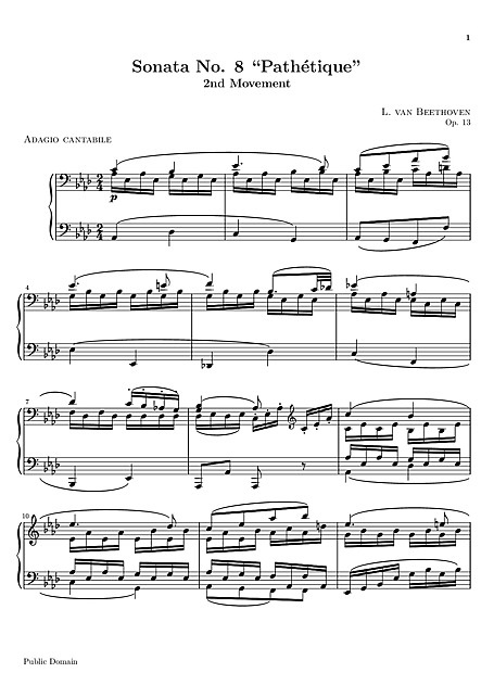 """Pathétique"" sheet music"