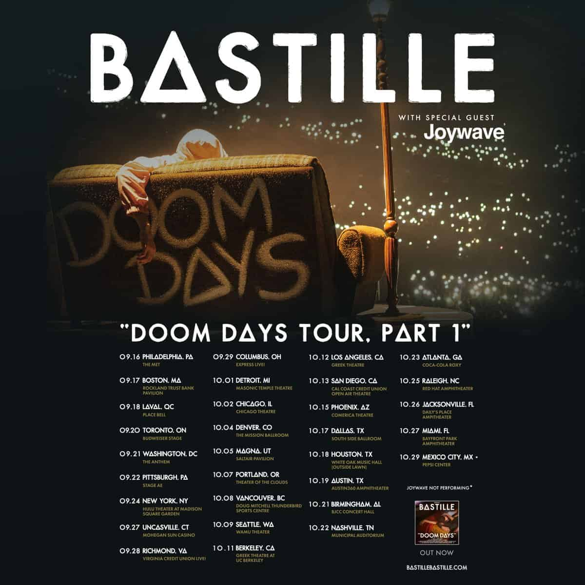 Bastille Doom Days NA Tour