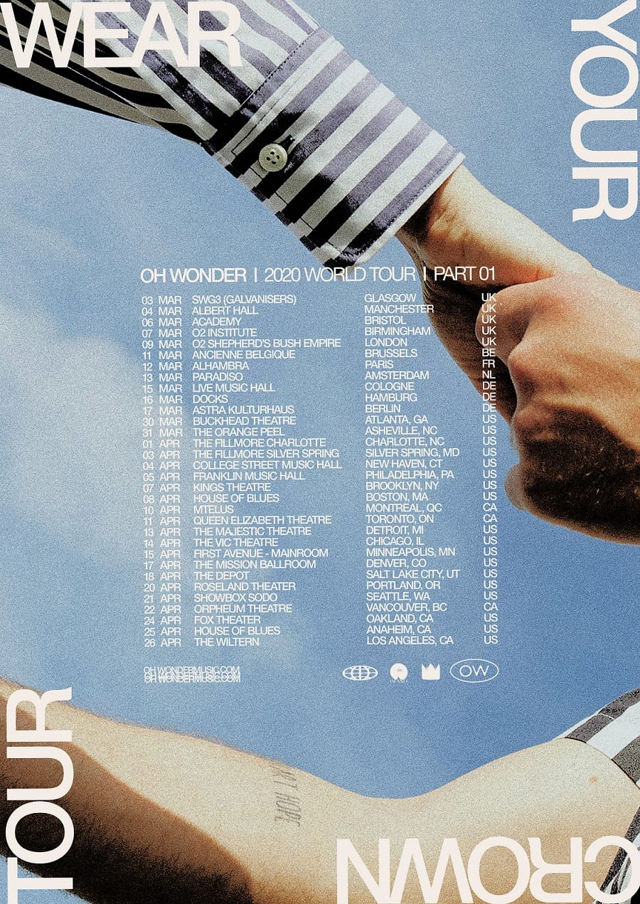 Oh Wonder 2020 World Tour