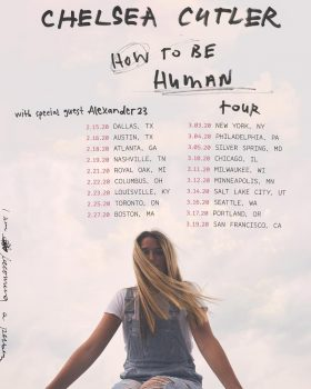 Chelsea Cutler 'How to Be a Human' tour poster, 2020