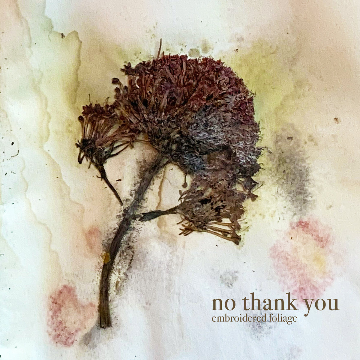 Embroidered Foliage - no thank you