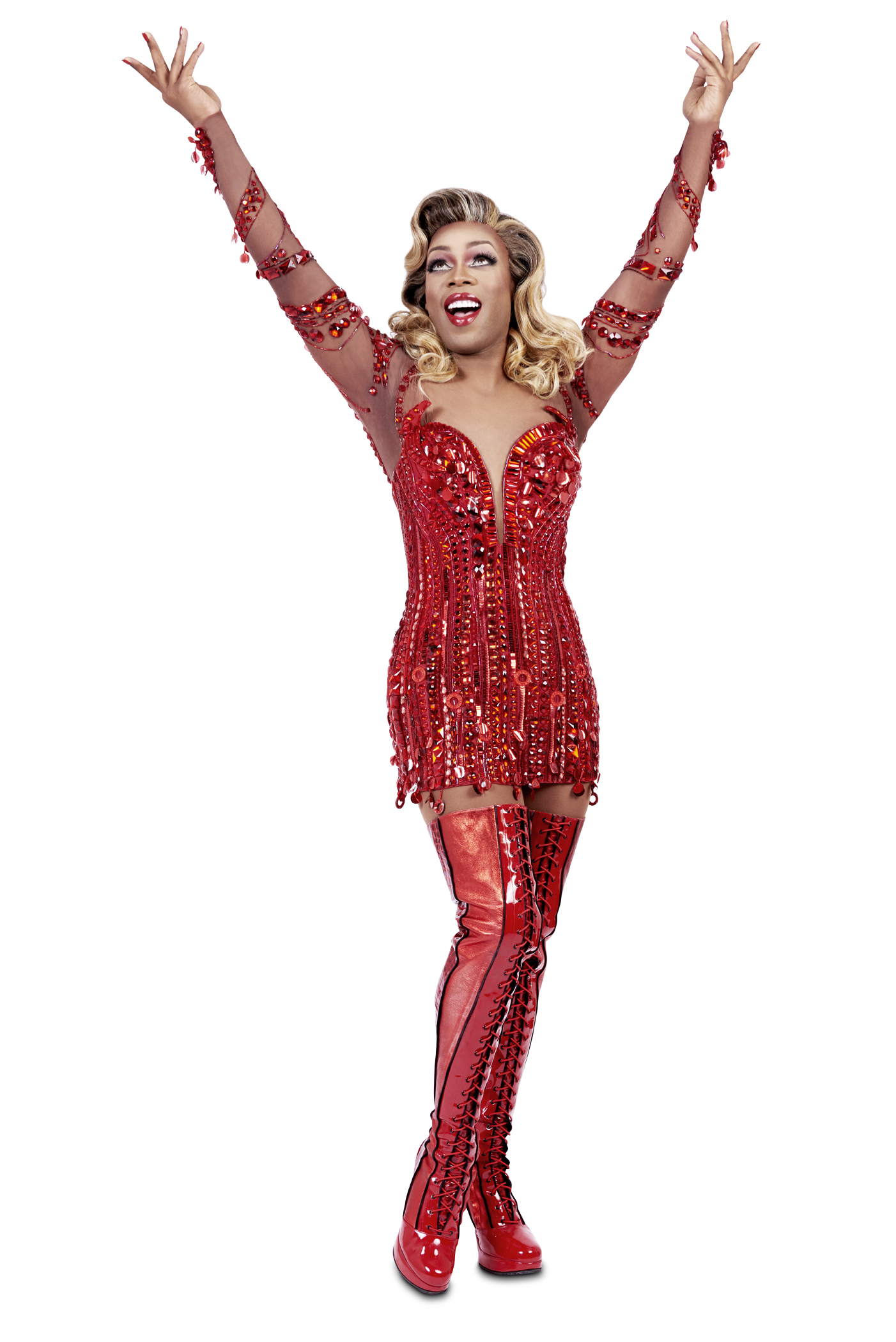 Todrick Hall as Lola in Broadway's Kinky Boots